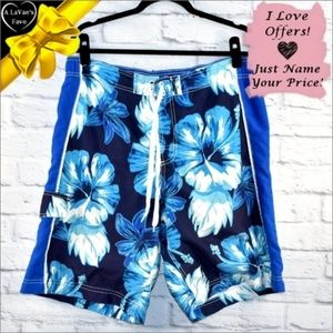OP Floral Board Shorts in Blue ~0dc6p1c1j1hb